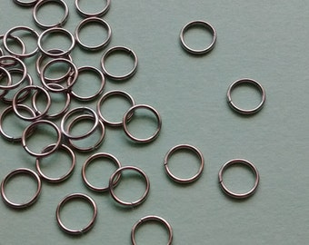 75 pc Jump Ring 6mm Stainless Steel Silver - JRSS2321