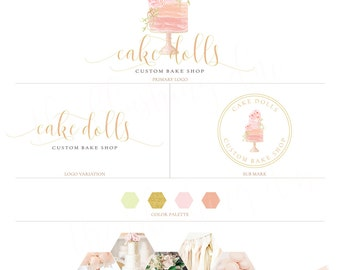 Logo Package, Premade Logo, Graphic Design, Business Logo, Logo Design, Bakery Logo, Feminine Logo