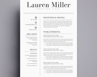 resume template cv template for word cover letter two page resume teacher