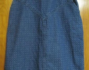JEAN Skirt, Heather Gray, Size 14, Vintage