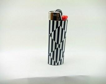 Optical Illusion - Floating Diamonds Custom Lighter