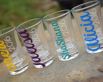 Personalized Shot Glasses, Friend Gift, Wedding Party Shot Glasses, Wedding Party Gift, Shot Glass, Shot Glasses, Custom Shot Glasses