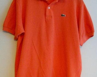 90's Orange Lacoste polo