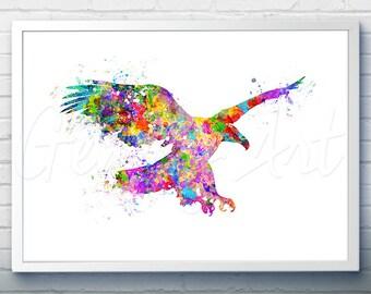 Eagle Bird Watercolor Art Print  - Watercolor Painting -  Eagle Watercolor Art Painting - Eagle Poster - Home Decor - House Warming Gift