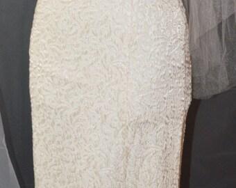 Long Brocade Evening Dress / Long Dress / Couture / Brocade Wedding Dress / Long Dress / Brocade Wedding Gown / Slit Skirt / Long Skirt