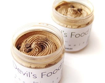 Devil's Food Body Whip - Chocolate Whipped Body Butter - Vegan - Handmade Body Lotion - Chocolate Bath - Sulfate Free Skincare