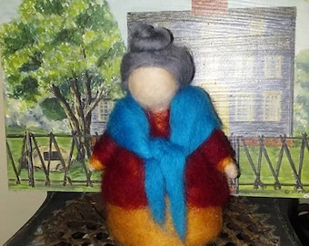 Grandmother Felted Wool Doll