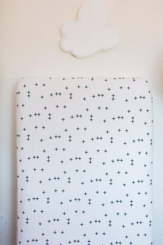 Cross Crib Sheet Fitted Crib Sheet Baby Bedding Crib