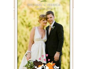Custom Wedding Corgi Snapchat Geofilter | Personalized Snapchat Geofilters