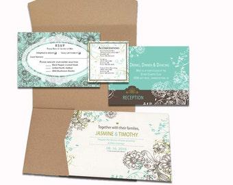 "Custom Wedding invitations - ""Ripples"""