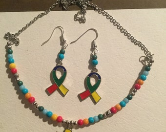 Autism Awareness Jewelry Set