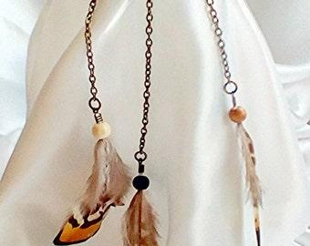 Tribal Boho feather arm band, festival arm jewellery, summer jewellery, Aztec real feather jewellery, festival armband, feather jewellery.