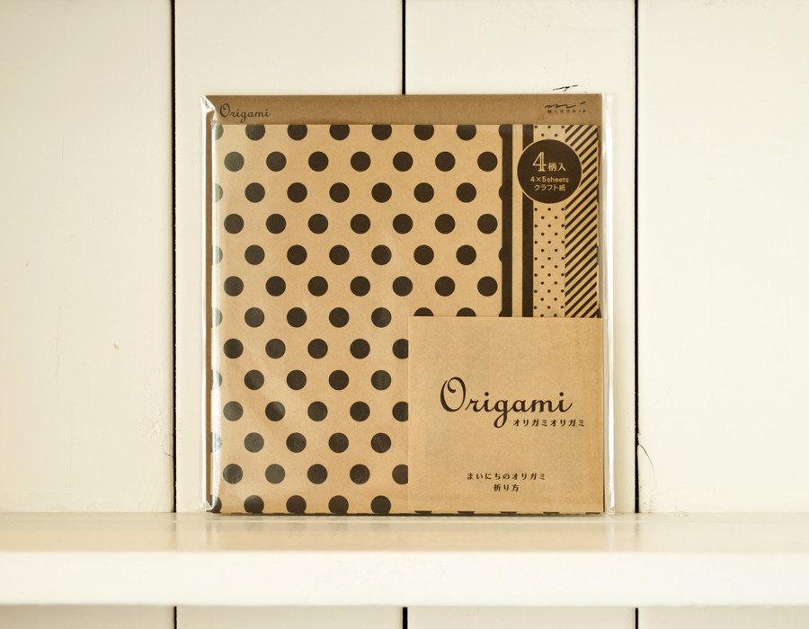 Origami kit, Set of origami paper, Japan origami, Origami paper pack, Origami paper folding, Kraft and black