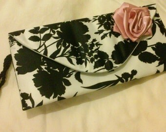 Rose Clutch Bag with Wristlet