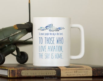 Coffee Mug with Sayings, Pilot Gift, Aviation Gifts, Funny Coffee Mug, Coffee Cup, Gift for Him, Gift for Men, Airplane, Plane, Flying, Fly