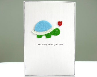 Funny Mothers Day Card - Cute Mother's Day Card - turtle pun - tortoise greeting card for Mum Mom Ma Mummy Mommy Mother - Free UK delivery