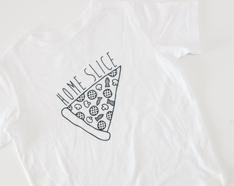 pizza tshirt toddler tee home slice