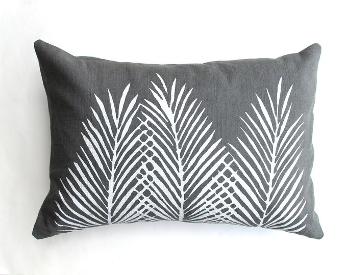 Nipa Palm Leaf Throw Pillow
