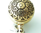 Gold Hearts and Flowers Badge Reel, ID Holder, Name Badge Reel -  275