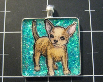 Fawn Chihuahua Pendant, 50% goes to the current focus animal charity