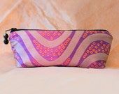 GRAPE SWIRL Silk Brocade Pencil Bag