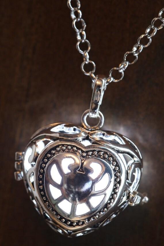 Pendant -  Glowing White Heart