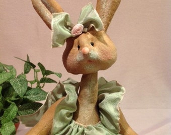 Cloth Doll E-Pattern 12 inch Baby Girl Bunny Rabbit