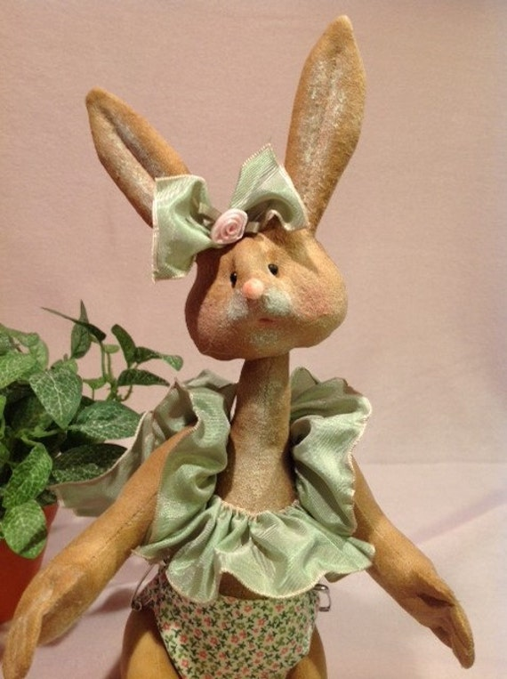 Cloth Doll E-Pattern 12 inch Baby Girl Bunny Rabbit