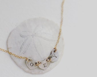 Greek letter necklace, Custom hand stamped greek, Personalized jewelry, Alphabet necklace, personalized necklace, heart initial necklace