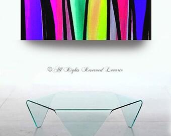 Large modern ABSTRACT PAINTING fine art multi colors original designer pop art by artist Carol Lee