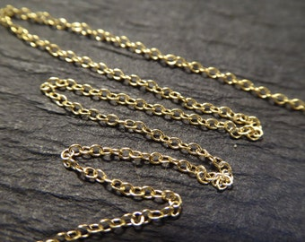 Shop Sale.. 5 10 20 ft, Gold Filled Chain, 10-18% less, 1.0 mm Petite CABLE Chain Gold, tiny dainty unfinished ssgf sgf9 tpc