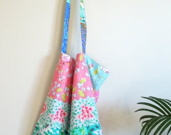 NEW SALE 4 in 1 Reversible Cotton Tote or Shopping Bag