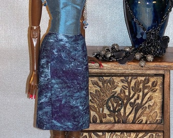 Harmonie Bleue * Ooak clothes for Sybarite Doll by L'Atelier de Rosy