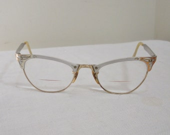 Vintage MC Gold Filled & Aluminum Catseye Eyeglasses