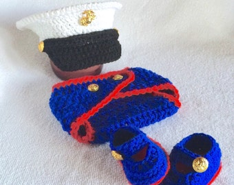 Baby Marine Clothes - Patriotic Outfit - Marine Corps - Baby Boy Marine Clothes - Baby Girl Marine Clothes - Hobbyist License #21512