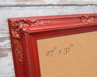 Frame Bulletin Board For Sale Kitchen Cork Boards Tuscan Red Framed Corkboard Baroque Framed Board Tuscan Kitchen Board Home Organizer