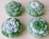 Mini Peony Flower 4 in 1 Silicone Soap Mold ( Soap Republic )