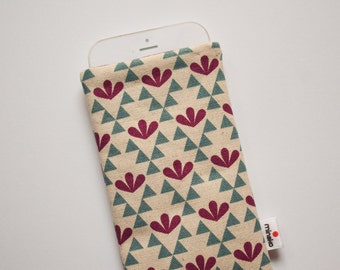 Triangles & Leaves Case iPhone 6s Plus 7 7 Plus iPod Classic HTC One A9 M9 LG G4 Samsung Galaxy S7 Sony Xperia Z5 Compact Nexus 5X 6P Sleeve