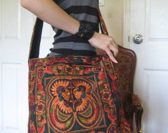 Hmong Vintage Style Unique Ethnic Thai Shoulder Messenger Bag