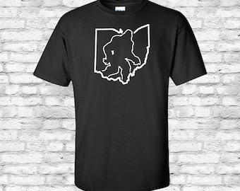 Ohio State Sasquatch, Bigfoot, Yeti, Basic Heavy Tee, Shirt