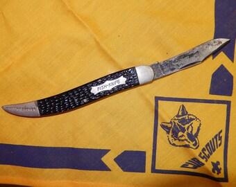 Hook remover fish Knife-Single Blade-Hook Remover-New-York City-1950s-Boy scouts knife-folding pocket knife-