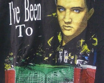 Vintage 90s ELVIS PRESLEY I've Beeon To Graceland Black Tshirt