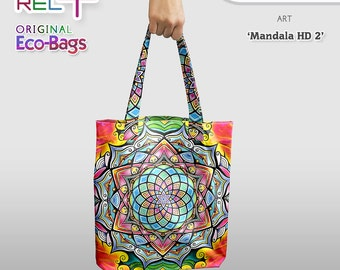 Mandala HD2 * Eco Tote Bag : Original Print front and rear * High strength, durability, abrasion and water resistance Unique Style & Fashion