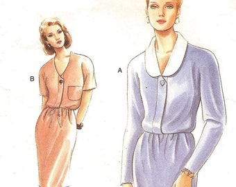 Dress Sz 14 16 18 Very Easy Very Vogue Pattern
