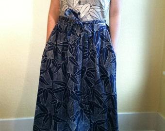 Plus Size Vintage 1970s Tori Richard Hawaiian Maxi Dress