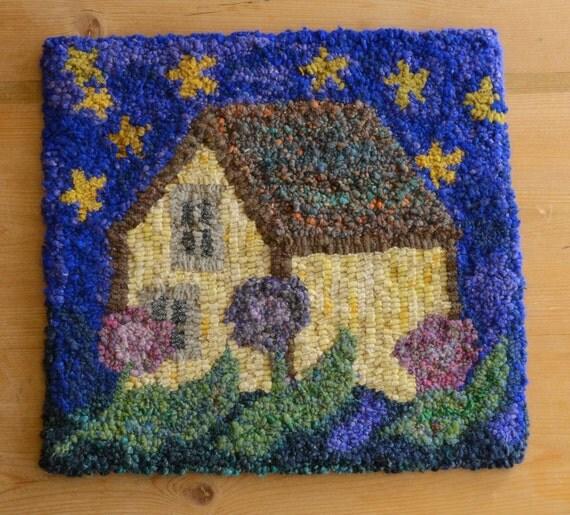 Hand-Hooked Rag Rug Stars In My Garden 14