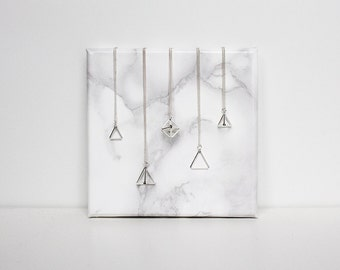 Layering Himmeli Pendant Necklace. Dainty necklace. Mix and match layering necklace.
