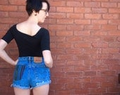 Upcycled Levi's with Textured Mexican Fabric Back Pocket