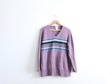Center Stripe Baggy 90s Sweater