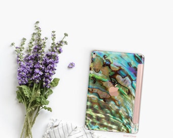 Platinum Edition Abalone Shell with Rose Gold Smart Cover Hard Case for iPad Air 2, iPad mini 4 , iPad Pro , New iPad 9.7 2017